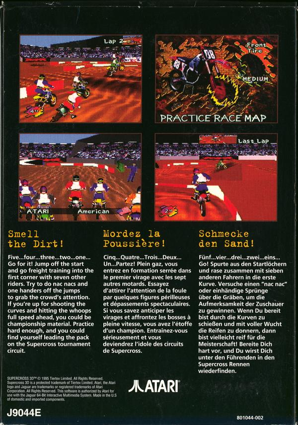 Supercross 3D - Box Back
