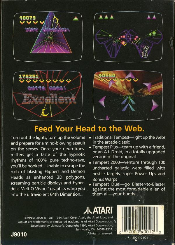 Tempest 2000 - Box Back