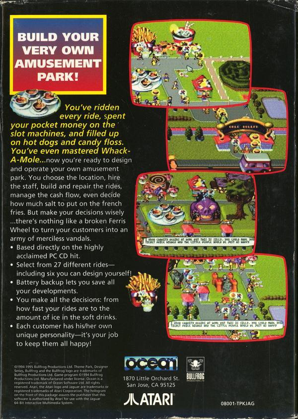 Theme Park - Box Back