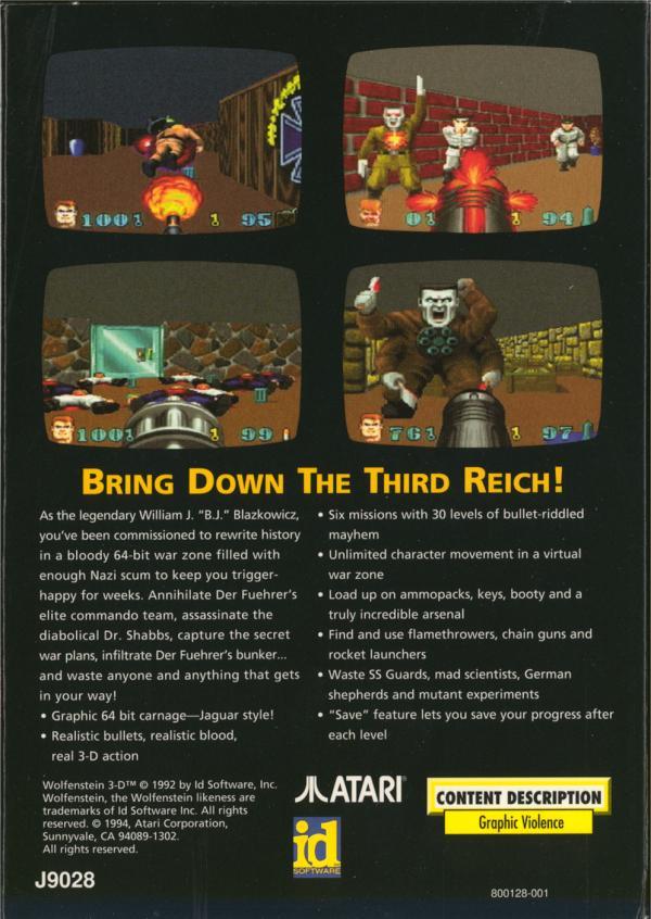 Wolfenstein 3D - Box Back