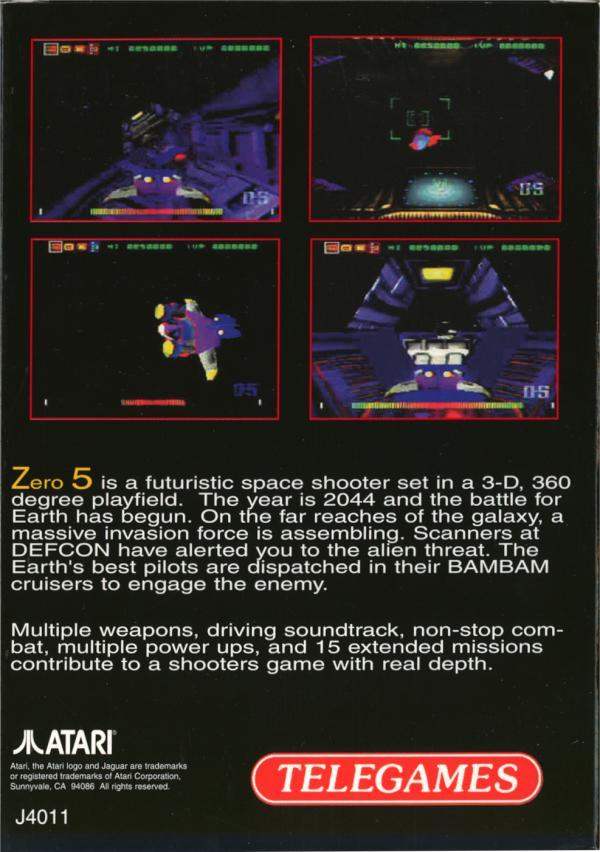 Zero 5 - Box Back