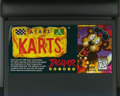 Atari Karts - Cartridge Scan