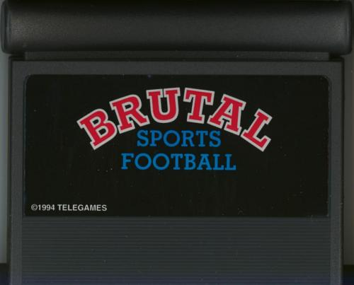 Brutal Sports Football - Cartridge Scan