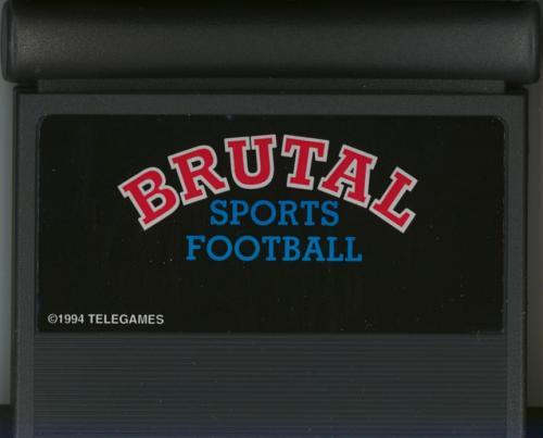 Brutal Sports Football - Cartridge Scan