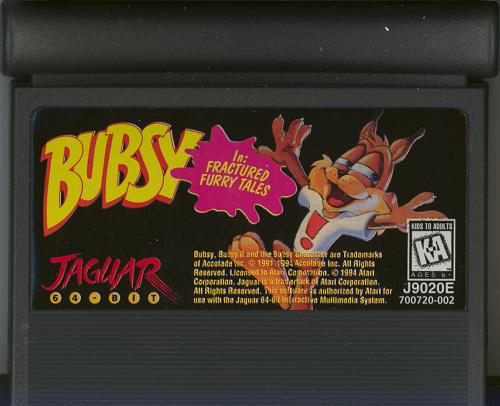 Bubsy: Fractured Furry Tails - Cartridge Scan