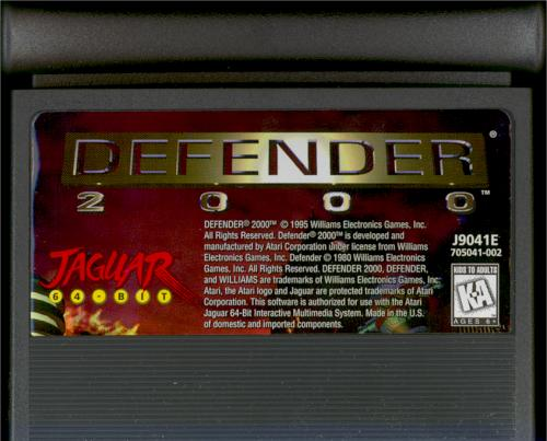 Defender 2000 - Cartridge Scan