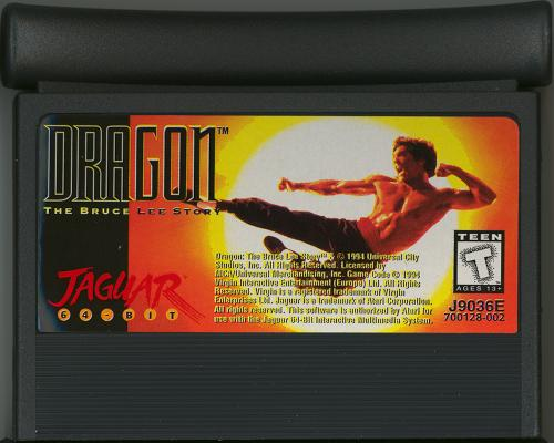 Dragon: The Bruce Lee Story - Cartridge Scan