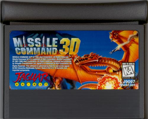 Missile Command 3D - Cartridge Scan