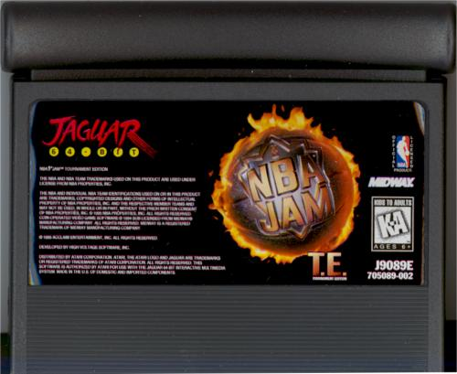 NBA Jam: Tournament Edition - Cartridge Scan