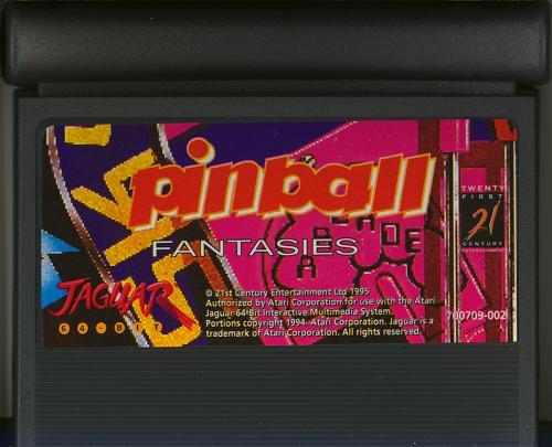 Pinball Fantasies - Cartridge Scan