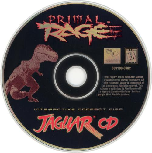 Primal Rage - Cartridge Scan