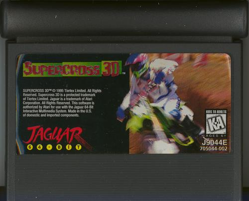 Supercross 3D - Cartridge Scan