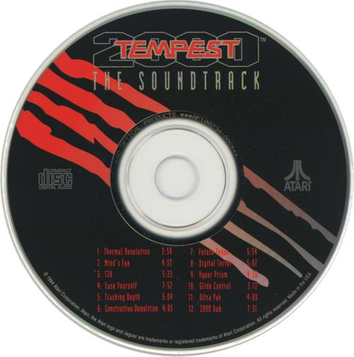 Tempest 2000 Soundtrack - Cartridge Scan