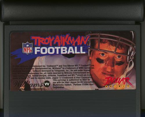 Troy Aikman NFL Football - Cartridge Scan