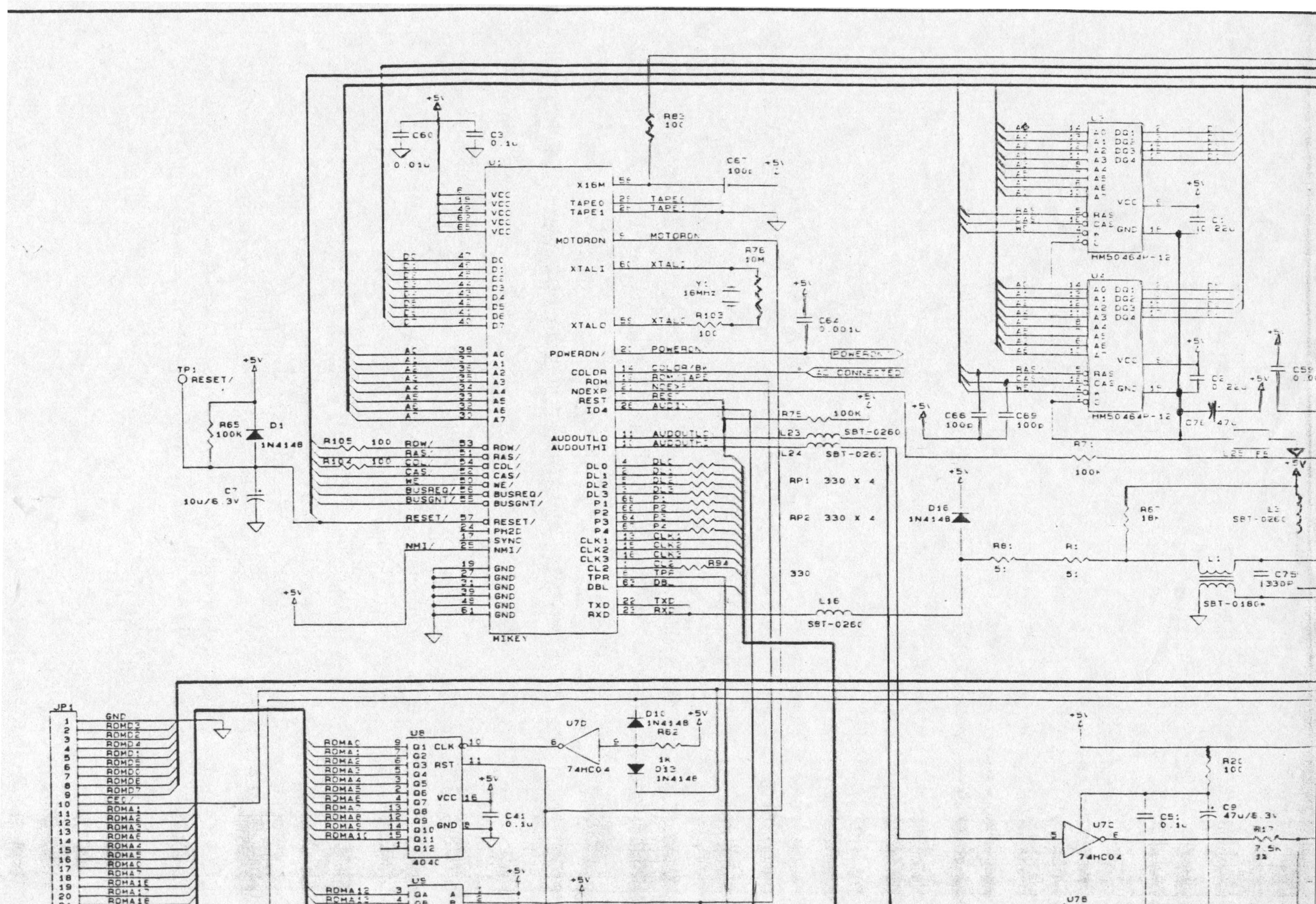 Lynx Cat Diagram Wiring Libraries Arctic Circuit Database Libraryatariage Atari Schematics System Board Upper