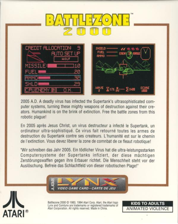 Battlezone 2000 - Box Back