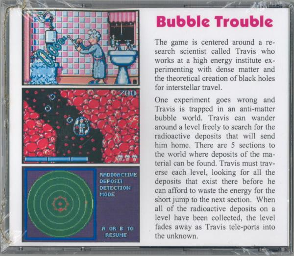Bubble Trouble - Box Back