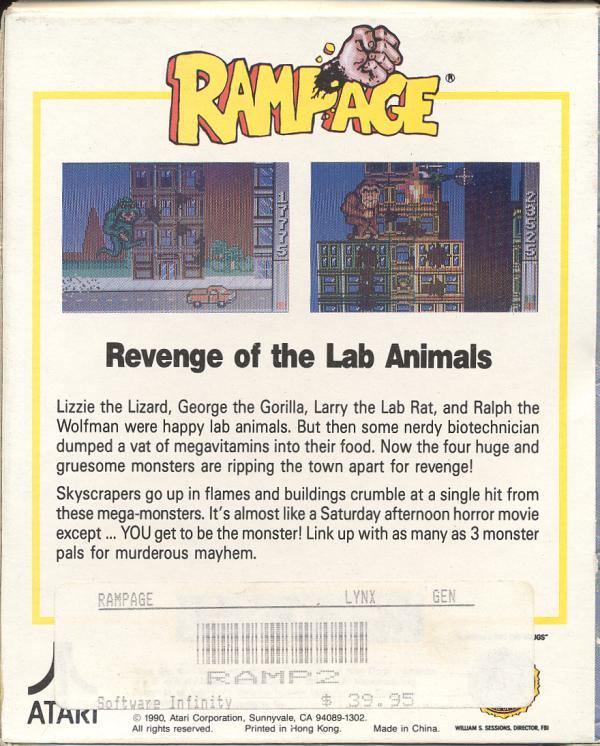 Rampage - Box Back