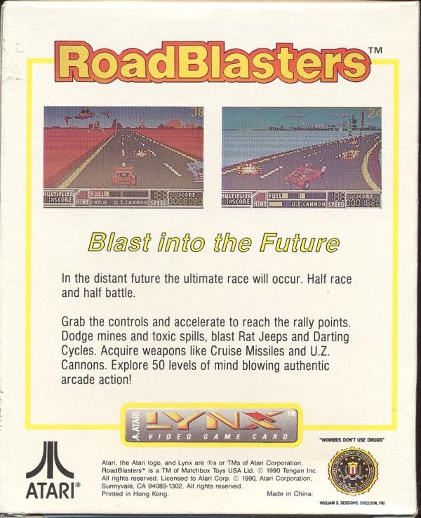 RoadBlasters - Box Back