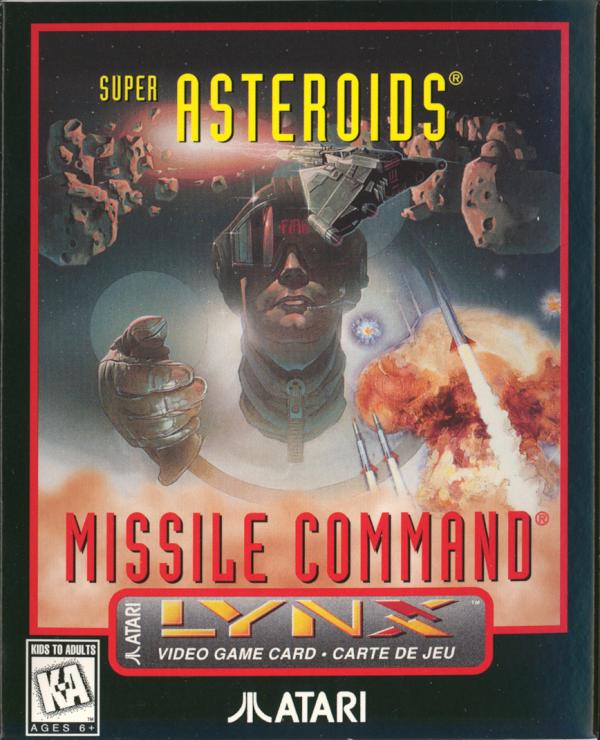 Super Asteroids & Missile Command - Box Front