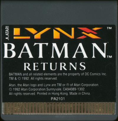 Batman Returns - Cartridge Scan