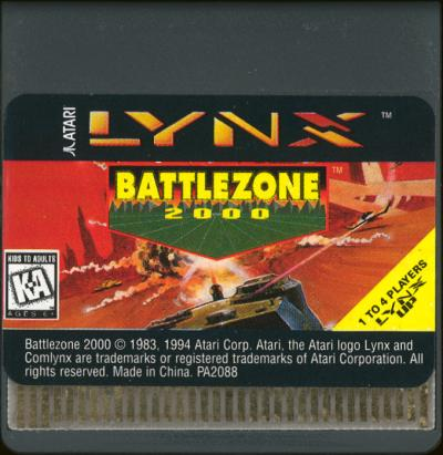 Battlezone 2000 - Cartridge Scan