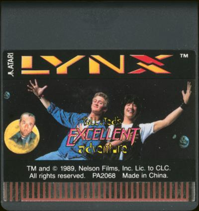 Bill & Ted's Excellent Adventure - Cartridge Scan