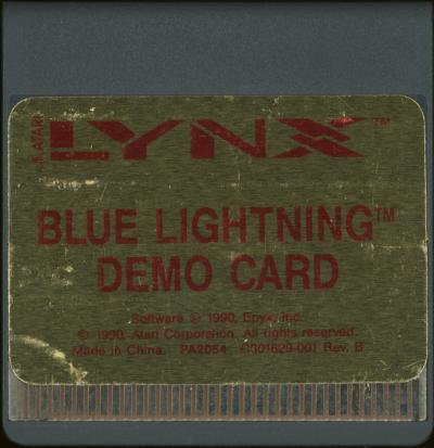Blue Lightning Demo Card - Cartridge Scan