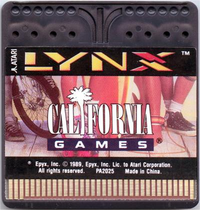 California Games - Cartridge Scan