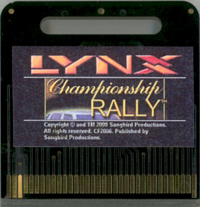 Championship Rally - Cartridge Scan