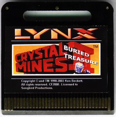 Crystal Mines II: Buried Treasure - Cartridge Scan