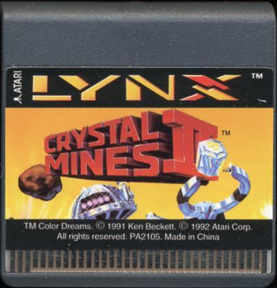 Crystal Mines II - Cartridge Scan