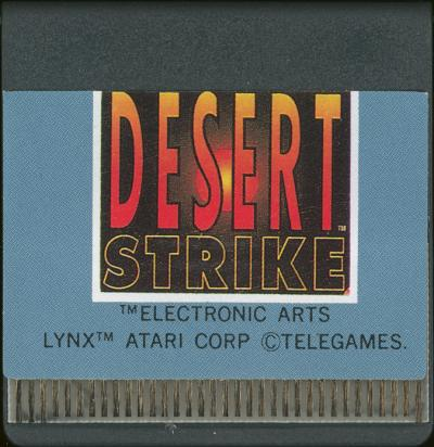 Desert Strike - Cartridge Scan