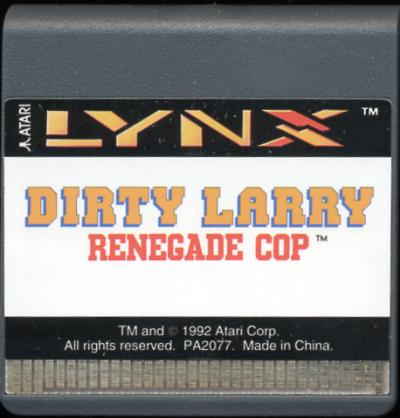 Dirty Larry: Renegade Cop - Cartridge Scan