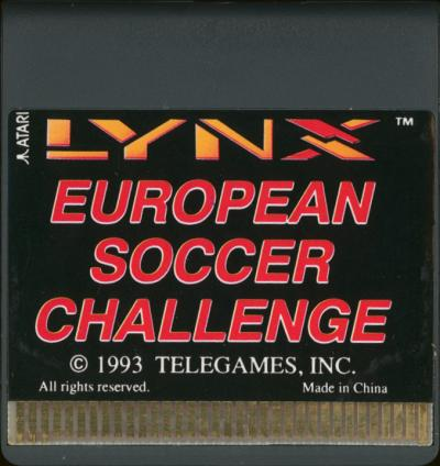 European Soccer Challenge - Cartridge Scan