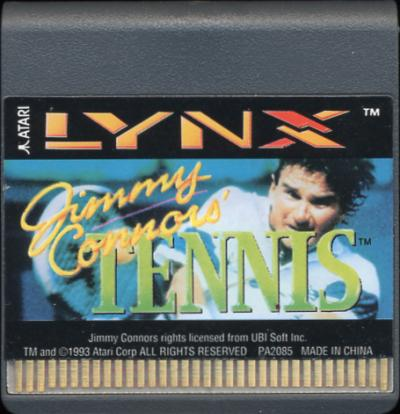 Jimmy Connors' Tennis - Cartridge Scan