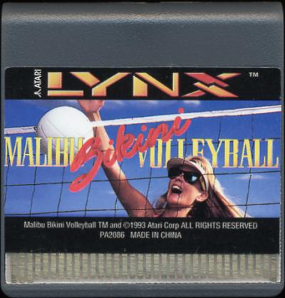 Malibu Bikini Volleyball - Cartridge Scan