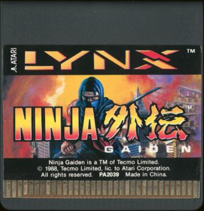 Ninja Gaiden - Cartridge Scan