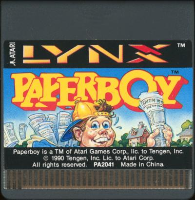Paperboy - Cartridge Scan