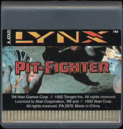 Pit-Fighter - Cartridge Scan