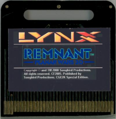 Remnant - Cartridge Scan