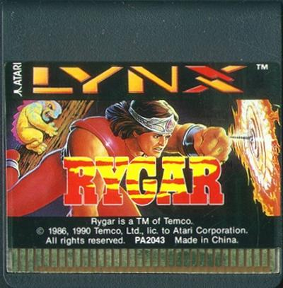 Rygar - Cartridge Scan