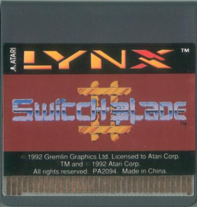 Switchblade II - Cartridge Scan