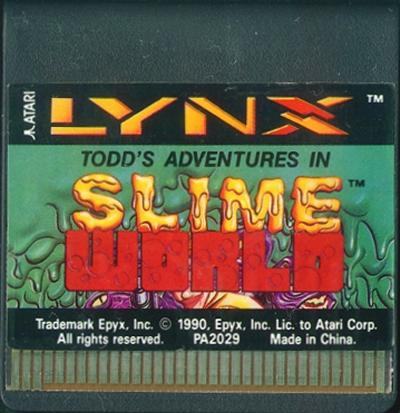 Todd's Adventures in Slime World - Cartridge Scan