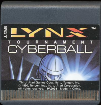 Tournament Cyberball - Cartridge Scan