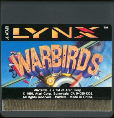 Warbirds - Cartridge Scan