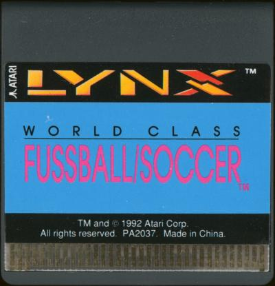 World Class Fussball/Soccer - Cartridge Scan