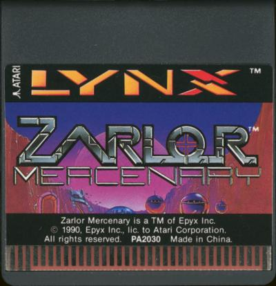 Zarlor Mercenary - Cartridge Scan