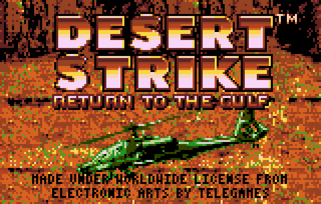 Desert Strike - Screenshot