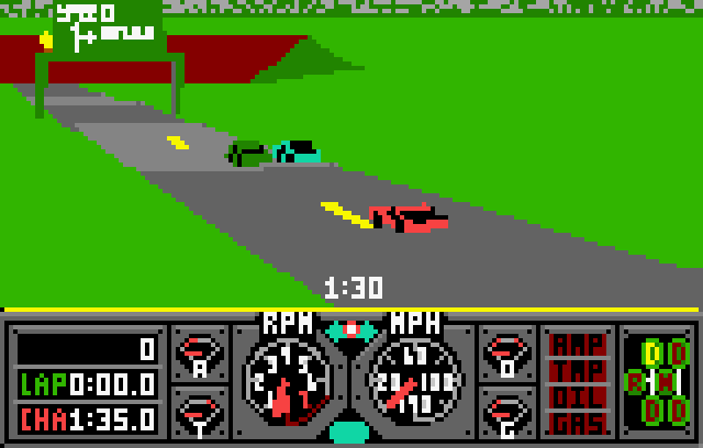 Hard Drivin' - Screenshot